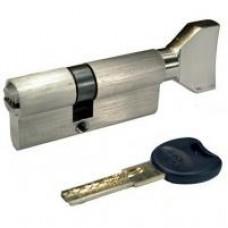 Цилиндр IMPERIAL  90mm 45/45 SN кл-пов никель