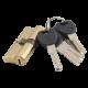 Цилиндр IMPERIAL C 70mm 35/35 PB кл.кл золото (латунь)(ЕСТЬ ОПТ)