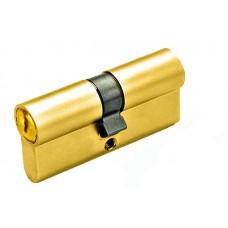 Цилиндр YUTL 60 мм (25х10х25), кл-кл, англ.ключ (золото)