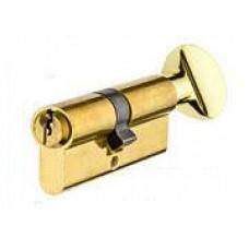 Цилиндр YUTL 60 мм  (25х10х25), ключ-пов. английский (золото)