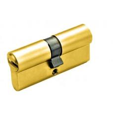 Цилиндр YUTL 60мм (25х10х25), ключ-ключ, лазерный (золото)