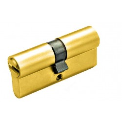 Цилиндр YUTL 60мм (25х10х25), ключ-ключ, лазерный (золото)(ЕСТЬ ОПТ)