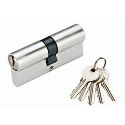 Цилиндр YUTL 65 мм (25х10х30), кл-кл, английский (Хром)(ЕСТЬ ОПТ)